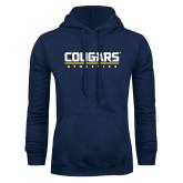 Navy Fleece Hoodie-Cougars Athletics