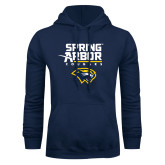 Navy Fleece Hood-Spring Arbor Cougars Satacked with Head