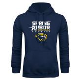 Navy Fleece Hoodie-Spring Arbor Cougars Satacked with Head