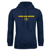 Navy Fleece Hoodie-Cougar Nation