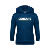 Youth Navy Fleece Hoodie-Cougars Athletics
