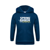 Youth Navy Fleece Hoodie-Spring Arbor Cougars Stacked