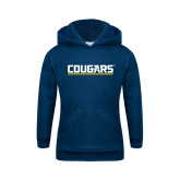 Youth Navy Fleece Hoodie-Cougars