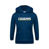 Youth Navy Fleece Hoodie-Cougars