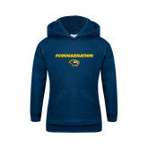 Youth Navy Fleece Hoodie-Cougar Nation