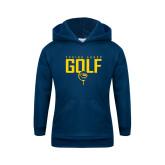 Youth Navy Fleece Hoodie-Golf