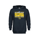 Youth Navy Fleece Hoodie-Cougar Womens Soccer Champions