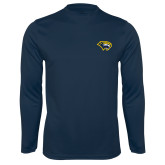 Syntrel Performance Navy Longsleeve Shirt-Cougar Head