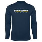 Syntrel Performance Navy Longsleeve Shirt-Baseball