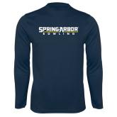 Syntrel Performance Navy Longsleeve Shirt-Bowling