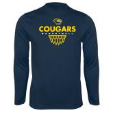 Syntrel Performance Navy Longsleeve Shirt-Basketball