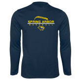 Syntrel Performance Navy Longsleeve Shirt-Baseball