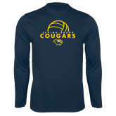Syntrel Performance Navy Longsleeve Shirt-Volleyball