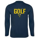 Syntrel Performance Navy Longsleeve Shirt-Golf