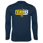 Syntrel Performance Navy Longsleeve Shirt-Tennis