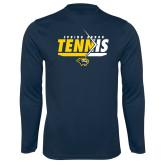 Syntrel Performance Navy Longsleeve Shirt-Tennis