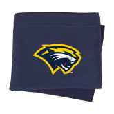 Navy Sweatshirt Blanket-Cougar Head