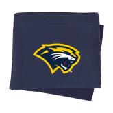Navy Sweatshirt Blanket-Cougar Head