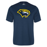 Syntrel Performance Navy Tee-Cougar Head