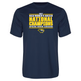Performance Navy Tee-Cougar Womens Soccer Champions