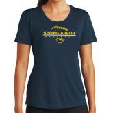 Ladies Syntrel Performance Navy Tee-Baseball