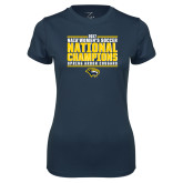 Ladies Syntrel Performance Navy Tee-Cougar Womens Soccer Champions