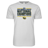 Next Level SoftStyle White T Shirt-Cougar Womens Soccer Champions