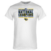 White T Shirt-Cougar Womens Soccer Champions