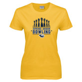 Ladies Gold T Shirt-Bowling