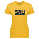 Ladies Gold T Shirt-SAU