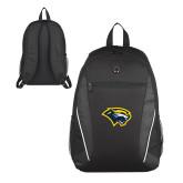 Atlas Black Computer Backpack-Cougar Head