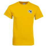 Gold T Shirt-SAU stepped with Cougar Head
