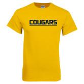 Gold T Shirt-Cougars