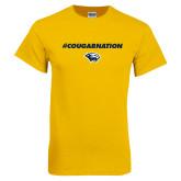 Gold T Shirt-Cougar Nation