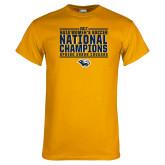 Gold T Shirt-Cougar Womens Soccer Champions
