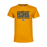 Youth Gold T Shirt-Cougar Womens Soccer Champions