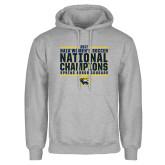 Grey Fleece Hoodie-Cougar Womens Soccer Champions