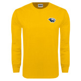Gold Long Sleeve T Shirt-Cougar Head