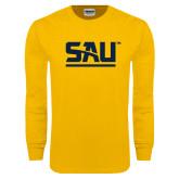 Gold Long Sleeve T Shirt-SAU