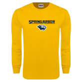 Gold Long Sleeve T Shirt-Spring Arbor with Head