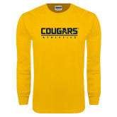 Gold Long Sleeve T Shirt-Cougars Athletics