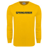 Gold Long Sleeve T Shirt-Spring Arbor