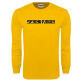 Gold Long Sleeve T Shirt-Spring Arbor