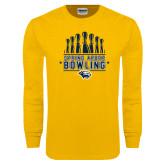 Gold Long Sleeve T Shirt-Bowling