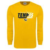 Gold Long Sleeve T Shirt-Tennis