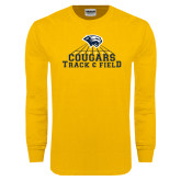 Gold Long Sleeve T Shirt-Track & Field
