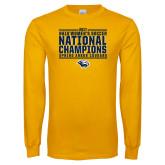 Gold Long Sleeve T Shirt-Cougar Womens Soccer Champions