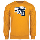 Gold Fleece Crew-SAU stepped with Cougar Head