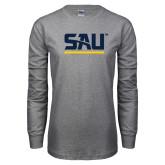 Grey Long Sleeve T Shirt-SAU