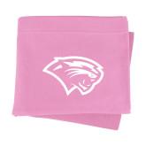 Pink Sweatshirt Blanket-Cougar Head